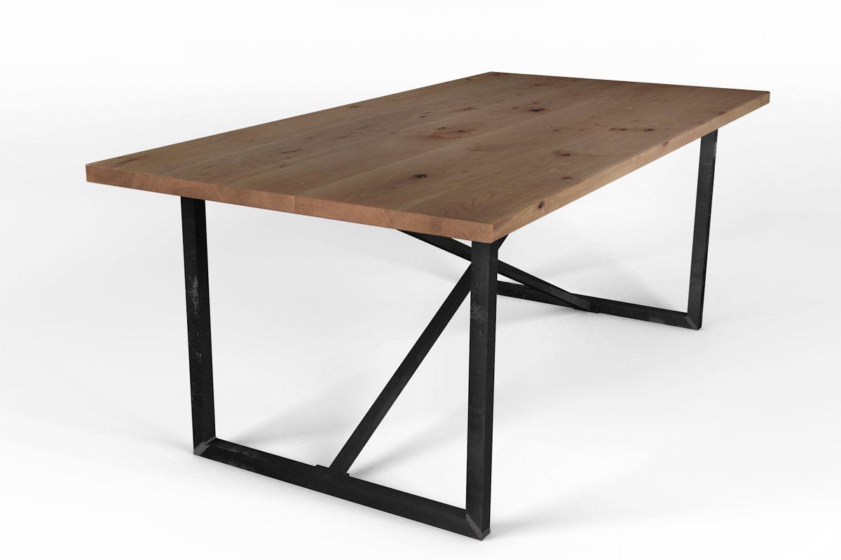 Buche Esstisch auf Maß mit Stahlrahmen Gestell