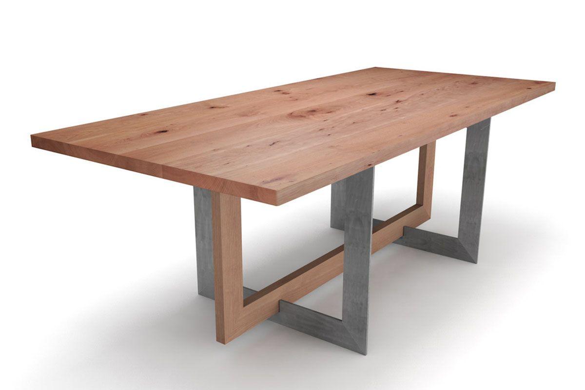 Buche Esstisch nach Maß Ast 4cm