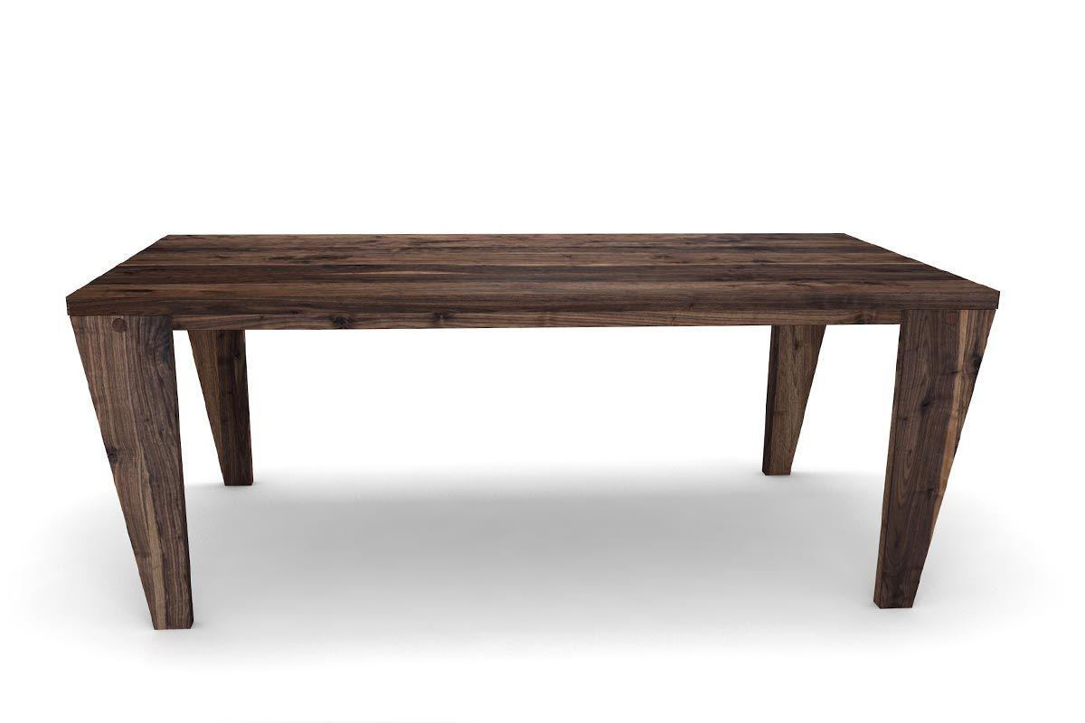 Nussbaum holztisch auf ma gefertigt holzpiloten for Holztisch nach mass