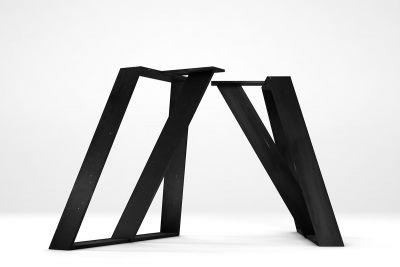 Esstisch Wangen aus gekantetem Stahl Dicke wählbar 2er Set