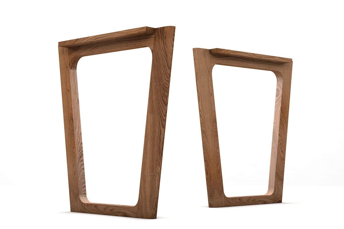 Holz Tischkufen konisch nach Maß