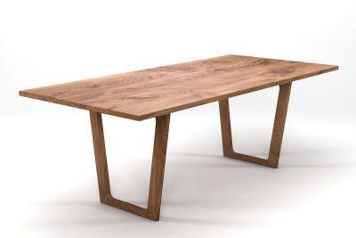 Moderner Eichentisch auf Maß Tischkufen aus Holz