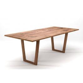 eichentisch auf ma mit holz tischkufen holzpiloten. Black Bedroom Furniture Sets. Home Design Ideas