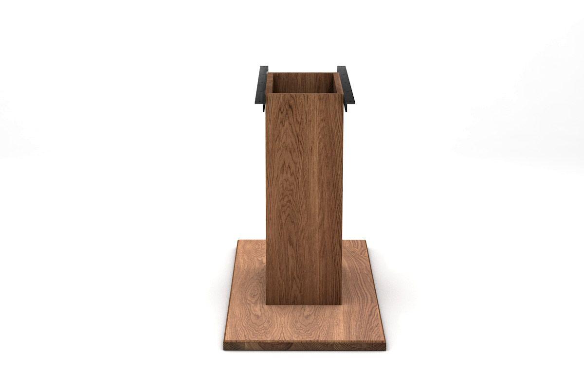holz mittelfu tischgestell nach ma holzpiloten. Black Bedroom Furniture Sets. Home Design Ideas