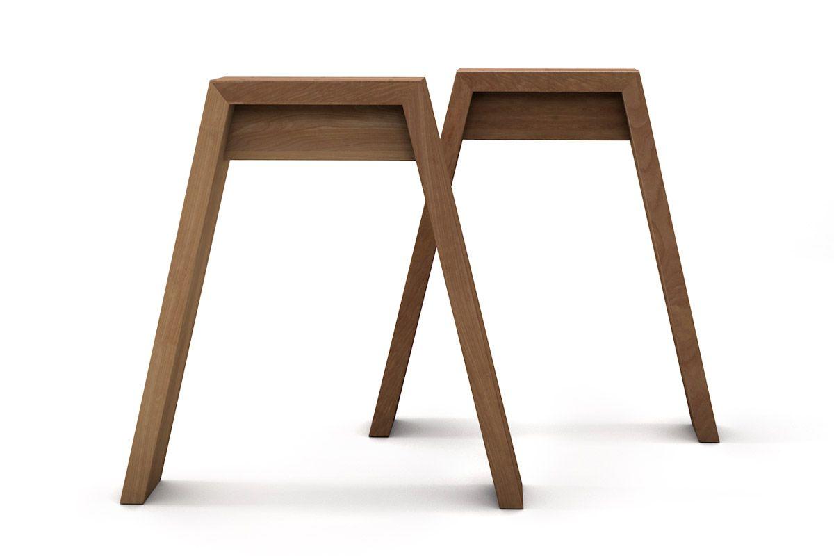 Moderne Tischfüße aus Massivholz nach Maß gefertigt, verschiedene Oberflächen zur Auswahl