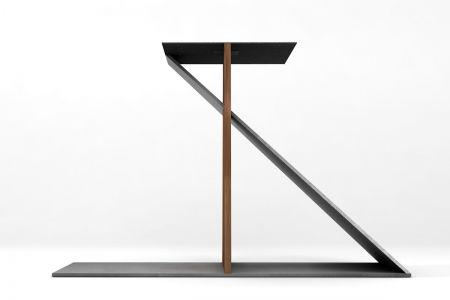Selbsttragendes Tischuntergestell Massivholz Stahl nach Maß