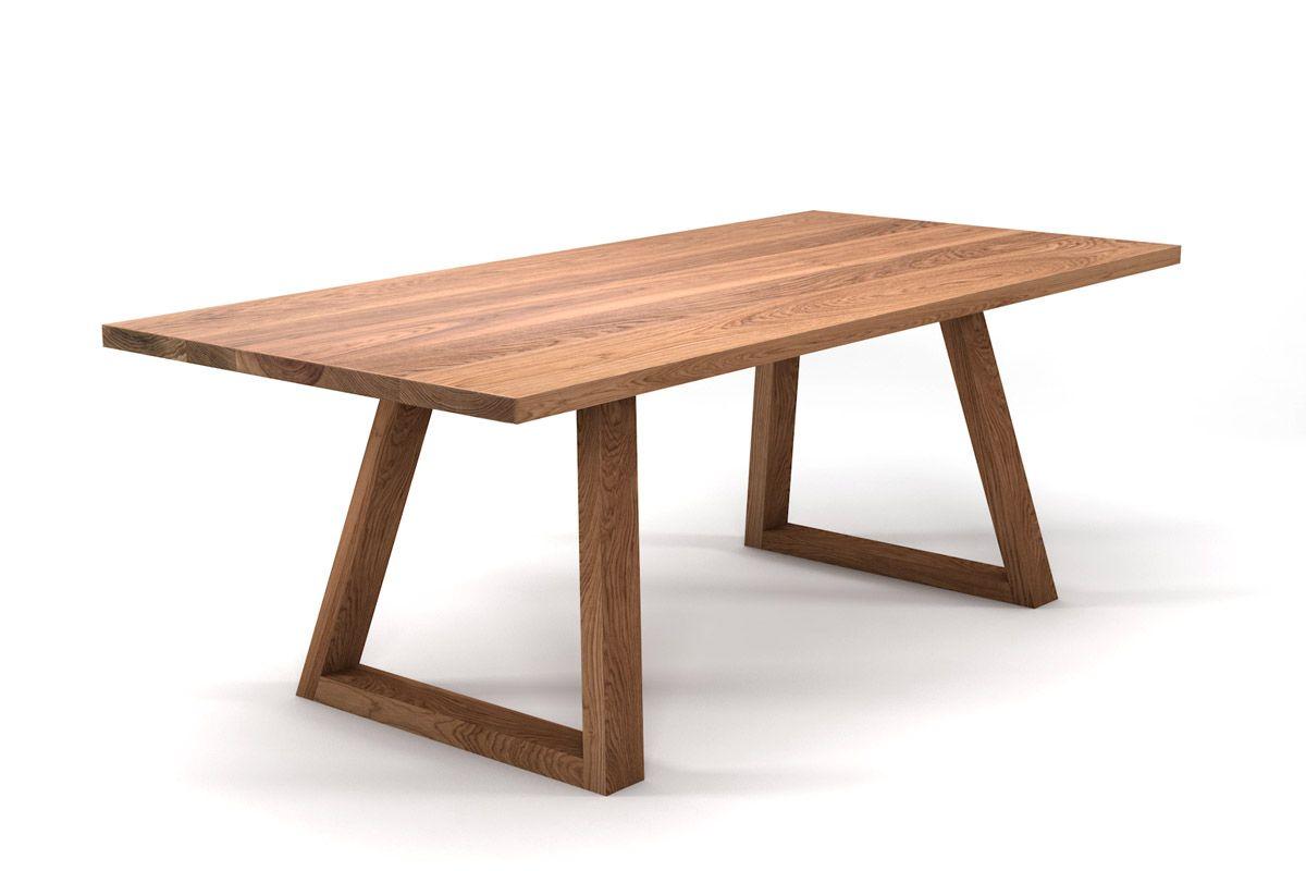 Holztisch aus Eiche nach Maß mit Massivholz Tischgestell
