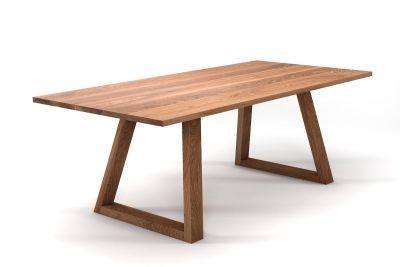 Esstisch Eiche nach Maß mit konischen Tischkufen aus Massivholz