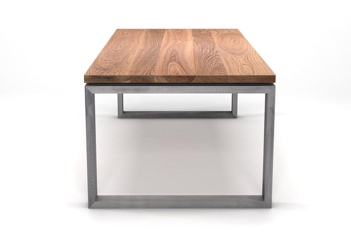 Kufengestell Tisch Eiche Massiv Nach Maß Holzpiloten