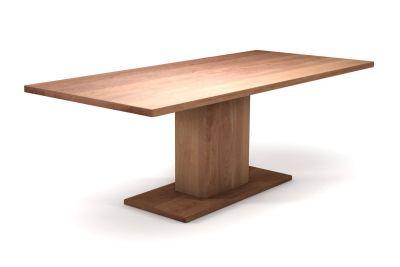 Massivholztisch Buche nach Mass mit Holz-Mittelfuß klassisch