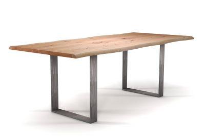 Baumkantentisch Buche nach Maß mit Stahlkufen