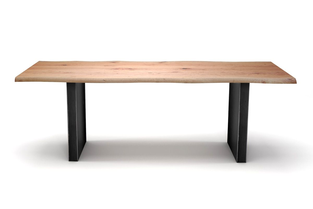 massivholztisch mit baumkanten buche holzpiloten. Black Bedroom Furniture Sets. Home Design Ideas