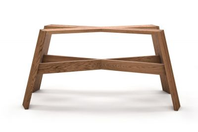 Tischuntergestell Holz nach Maß in vollmassiver Ausführung