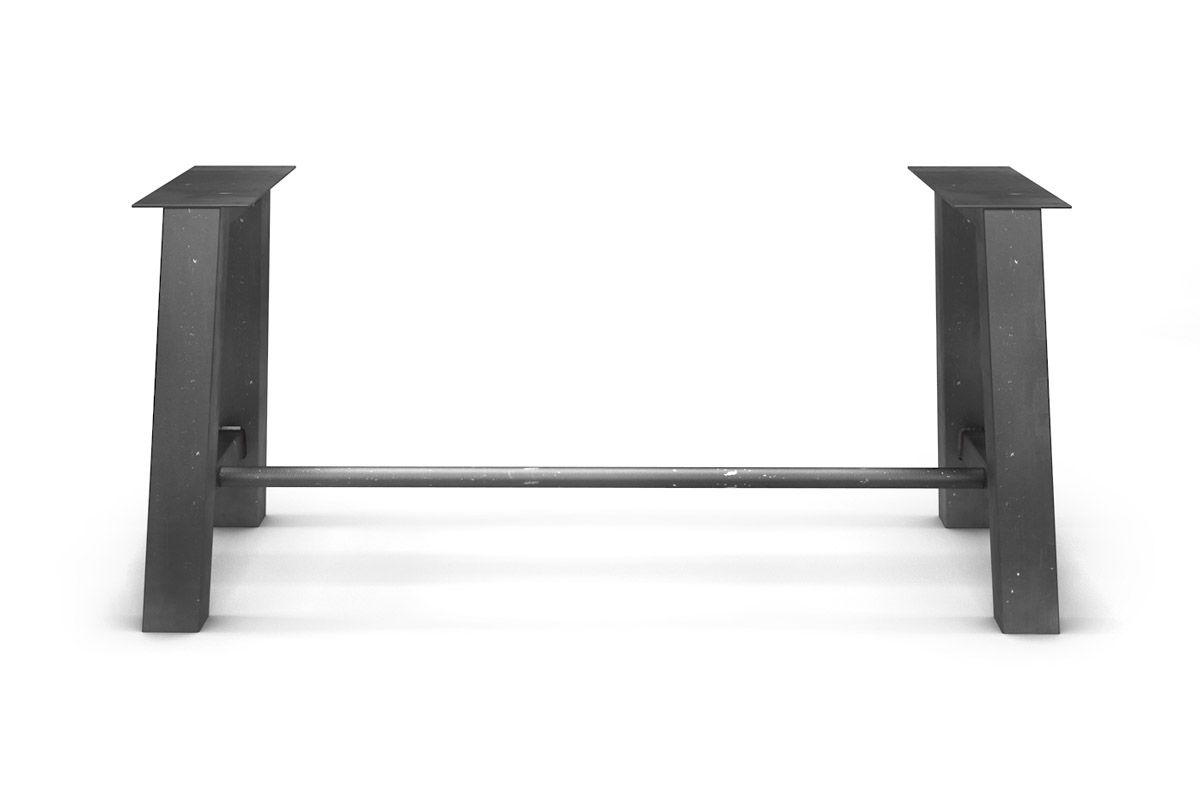 tischgestell stahl mit fu strebe holzpiloten. Black Bedroom Furniture Sets. Home Design Ideas