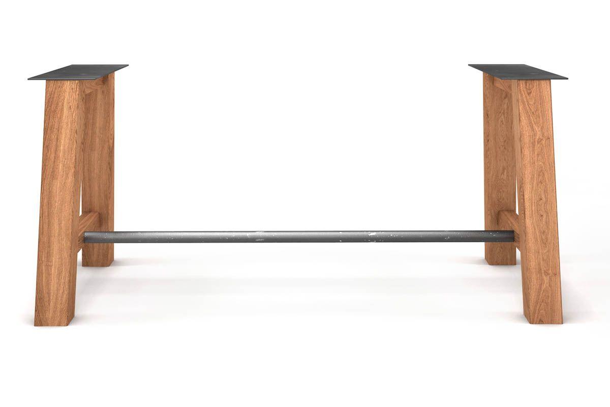 Tischuntergestell aus Metall und Holz massiv nach deinem Maß gefertigt