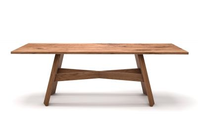 Vollmassiver Eichenesstisch nach Maß mit Massivholz Tischgestell