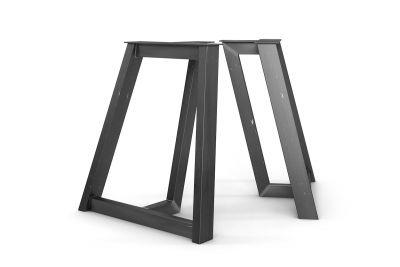 Metall Tischuntergestell nach Maß 2er Set in verschiedenen Oberflächen erhältlich