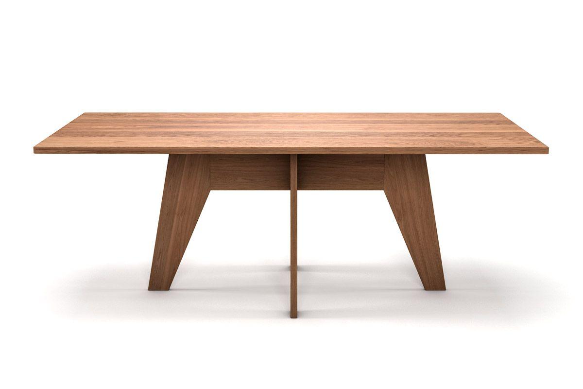 Esstisch aus Eiche mit Holz Untergestell und nach Maß in astfreier Qualität