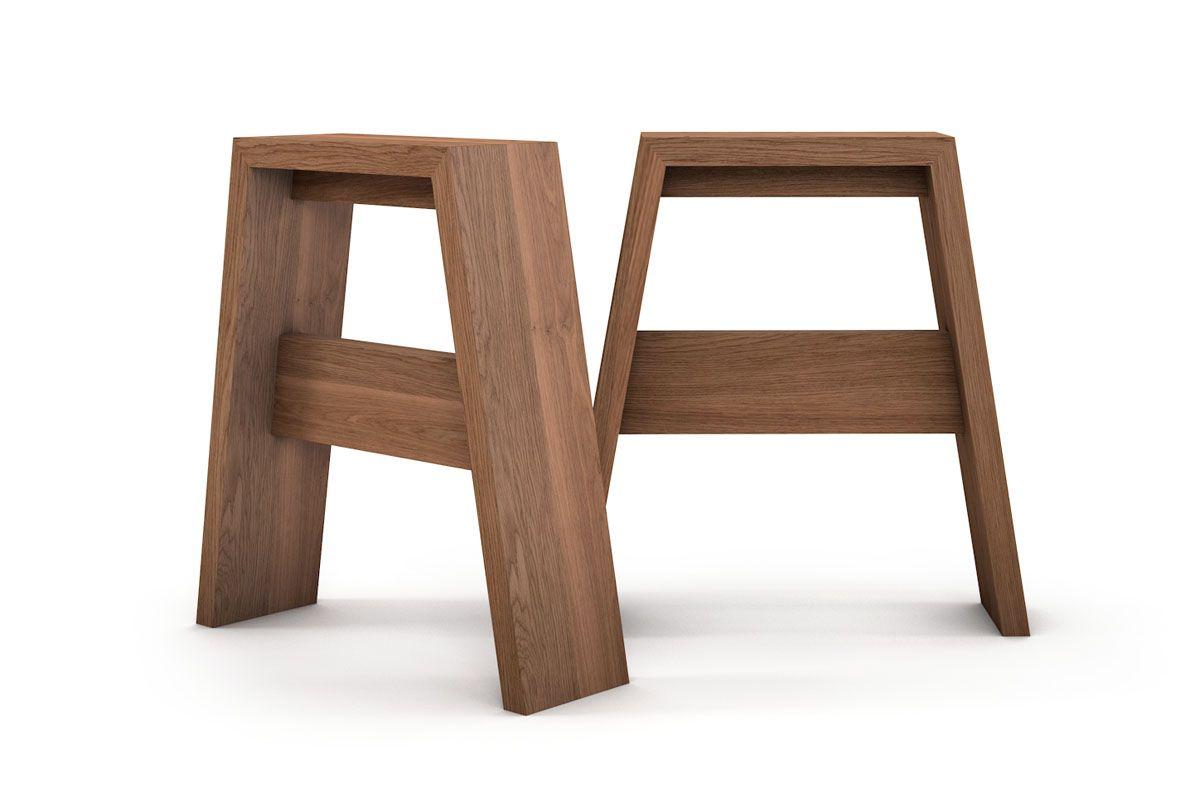 holz tischbeine eiche massiv nach ma holzpiloten. Black Bedroom Furniture Sets. Home Design Ideas