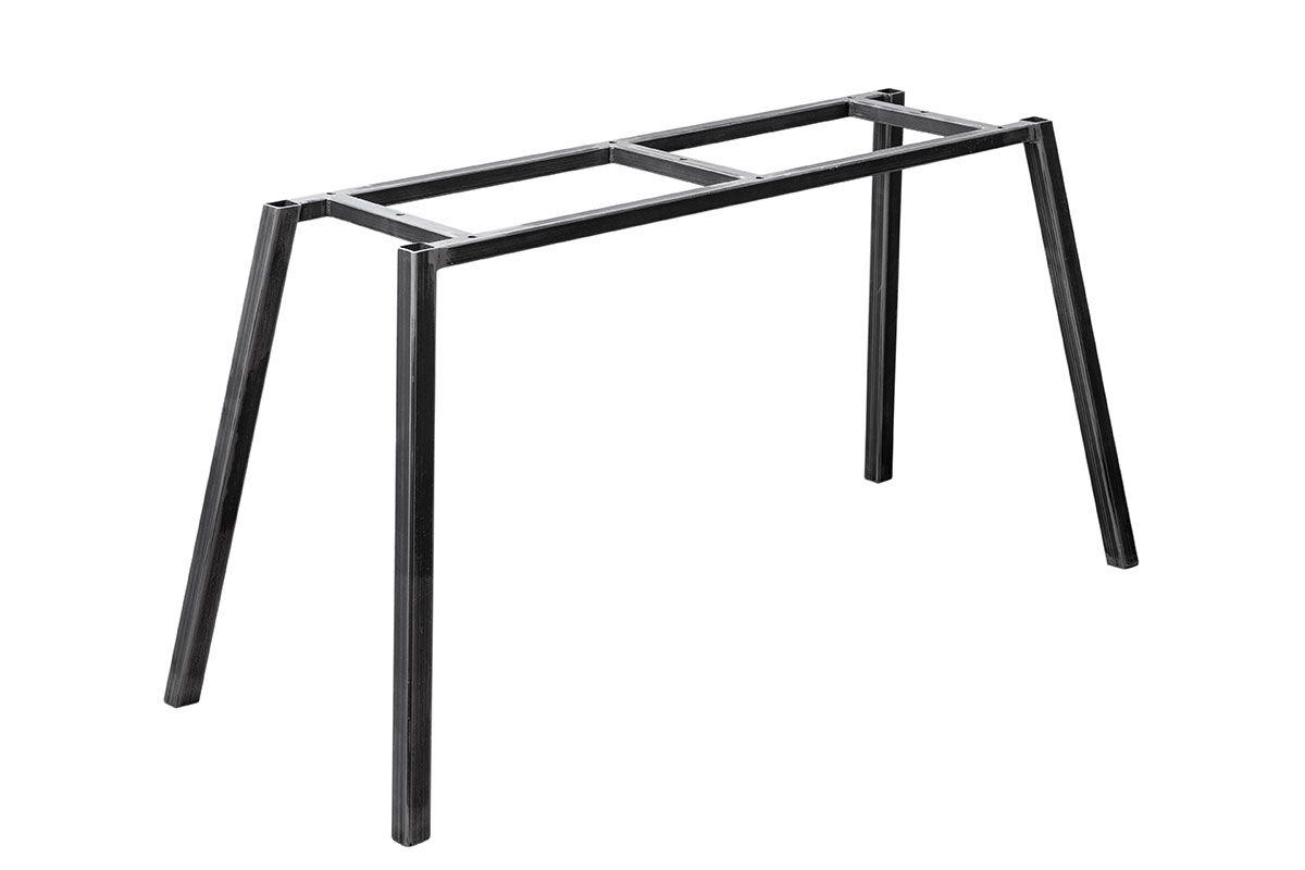 Stahl Tischgestell filigran Ansicht schräg vorne