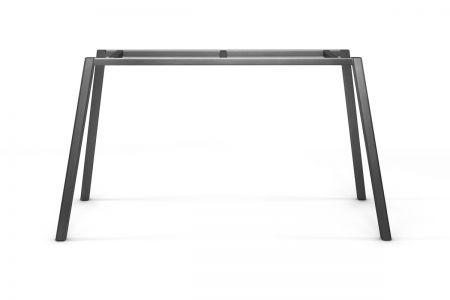 Tischgestell filigran Stahl auf Maß aus Vierkantrohr gefertigt