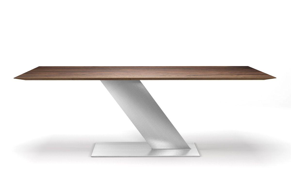 Nussbaumtisch 3cm massiv und astfrei mit Facettenkante