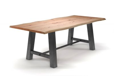 Klassischer Tisch aus Buche 4cm Ast mit Baumkante