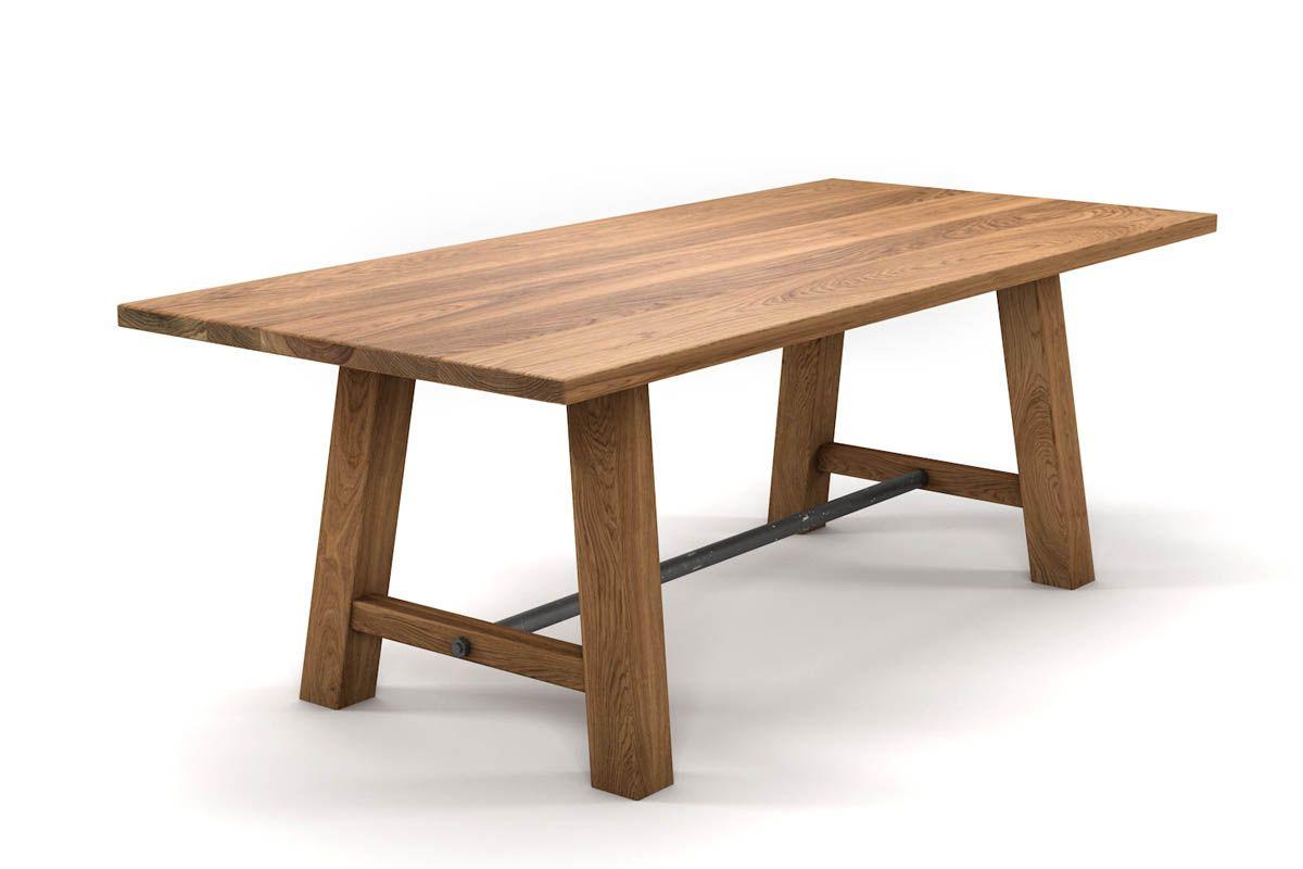Esszimmertisch massiv Eiche 4cm astfrei mit selbsttragendem Tischgestell