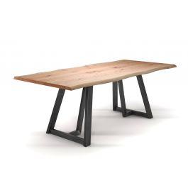 tisch mit baumkante aus vollmassiver eiche holzpiloten. Black Bedroom Furniture Sets. Home Design Ideas