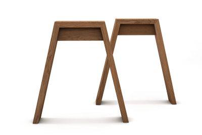 Eichen Tischbeine 2er Set auf Maß in vollmassiver Ausführung gefertigt
