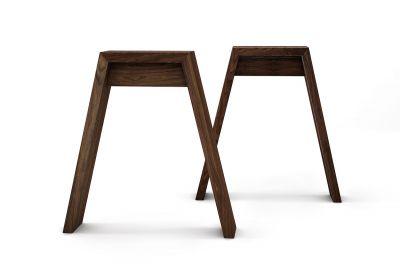 Nussbaum Tischgestell im skandinavischem Design auf Maß in vollmassiver Ausführung gefertigt