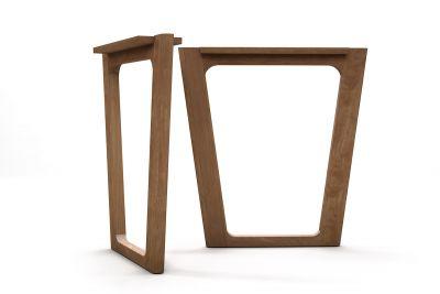 Tischkufen aus Buche 2er Set nach Maß aus Massivholz gefertigt