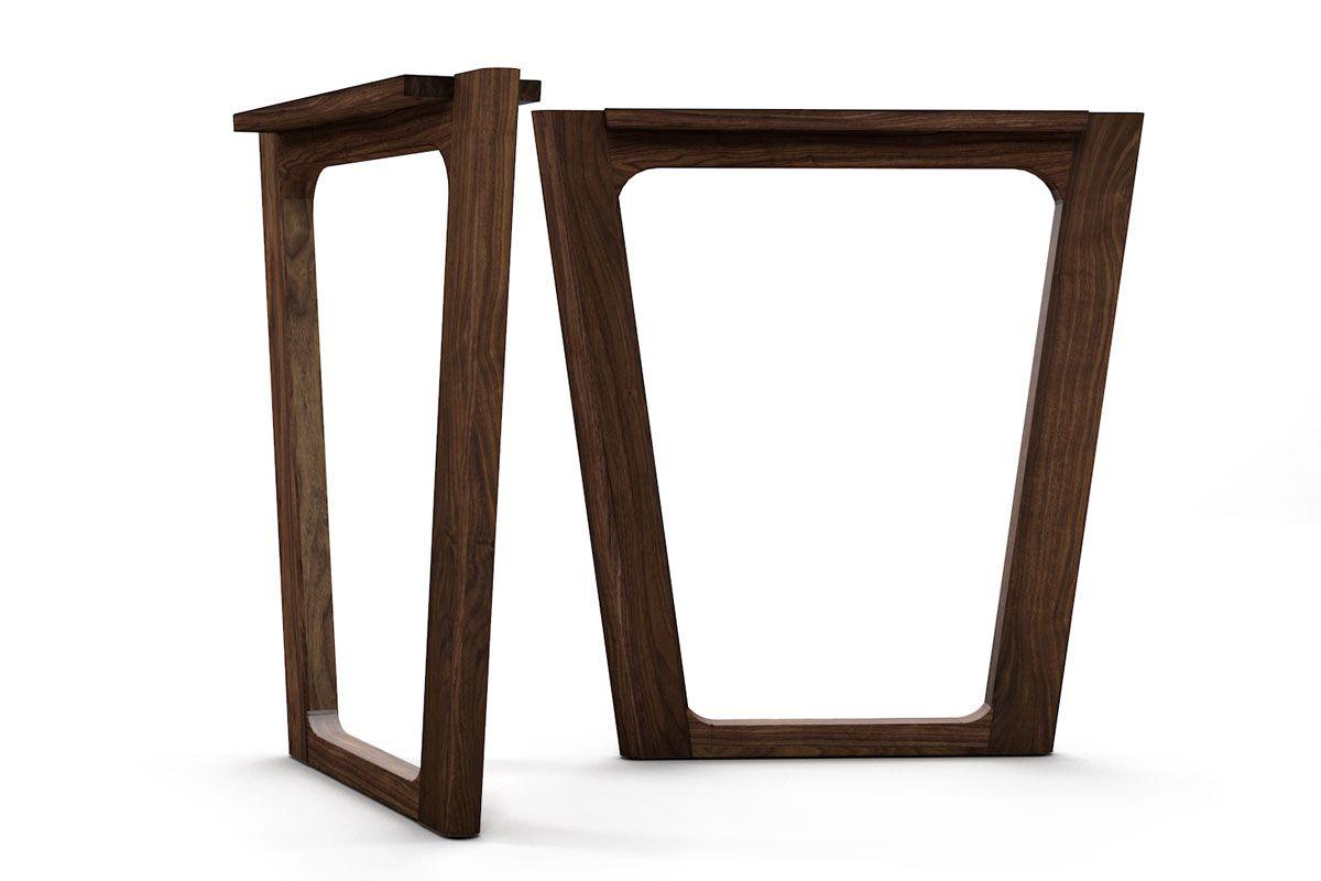 Deine Tischkufen nach Maß aus Nussbaum gefertigt