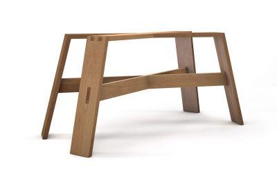 Buche Tischgestell massiv auf Maß gefertigt im klassischen Design