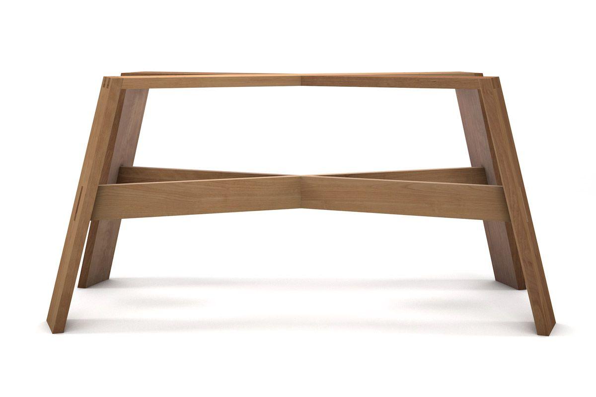 Extravagantes Buche Tischgestell traditionell gefertigt aus Massivholz