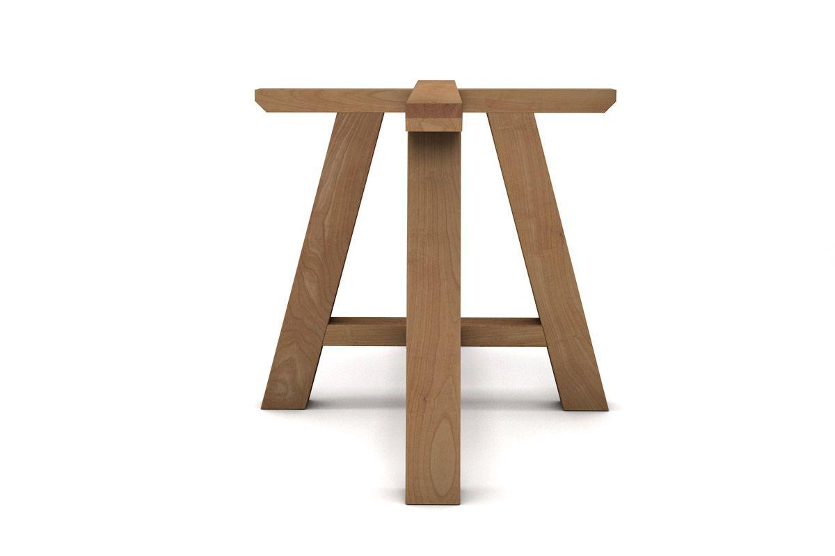 Tischbeine in Kreuzform aus Massivholz Buche nach deinem Maß
