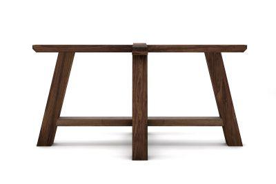 Tischuntergestell Nussbaum massiv nach Maß im Landhausstil gefertigt