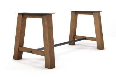 Esstisch Untergestell aus Buche nach Maß aus Massivholz gefertigt