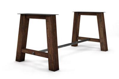 Tisch Untergestell Nussbaum auf Maß in massiver Ausführung