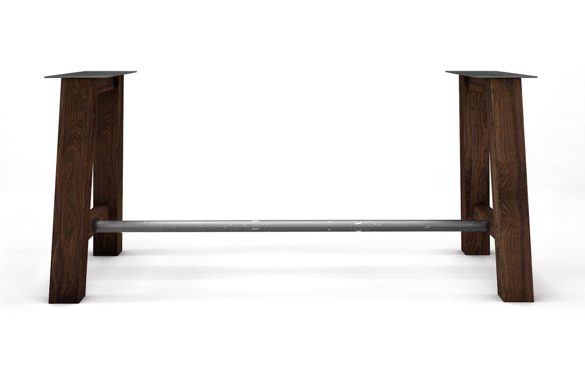 Dein Nussbaum Tischgestell auf Maß aus Massivholz gefertigt