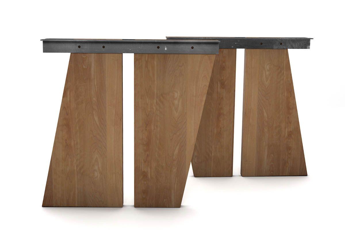 Modernes Tischuntergestell Buche aus Massivholz nach deinem Maß gefertigt