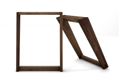 Nussbaum Kufengestell mit eleganter Schrägstellung nach deinem Maß gefertigt