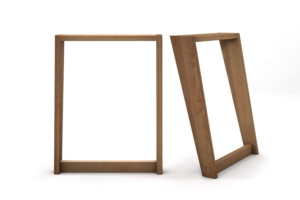 Tischkufen aus Buchenholz nach Maß mit Schlitz- und Zapfenverbindung
