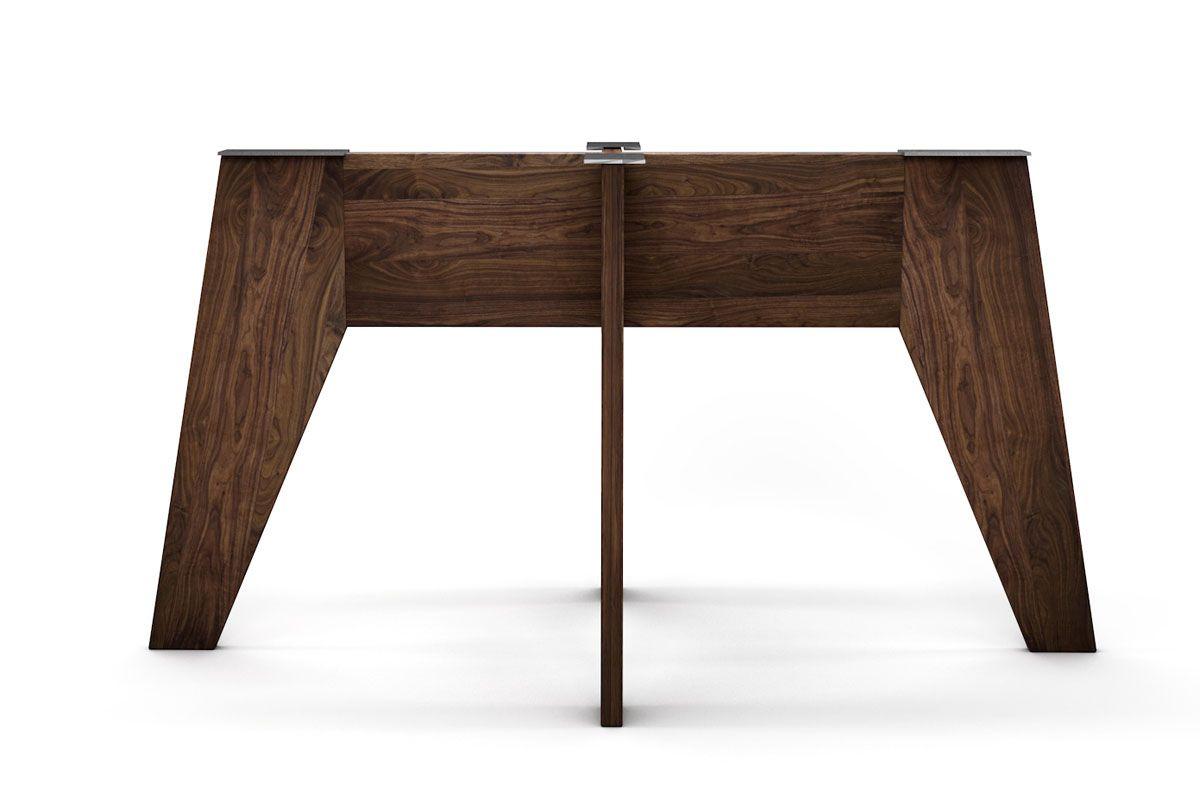 Holz Tischgestell nach Maß vollmassiv aus Nussbaum gefertigt