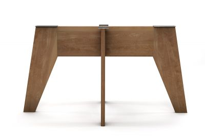 Massivholz Tischgestell Buche nach Maß selbsttragend gefertigt
