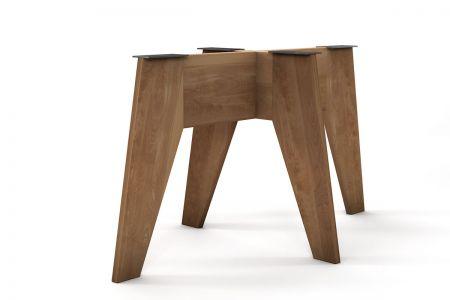 Holz Mittelfuß Gestell nach Maß in vollmassiver Ausführung gefertigt