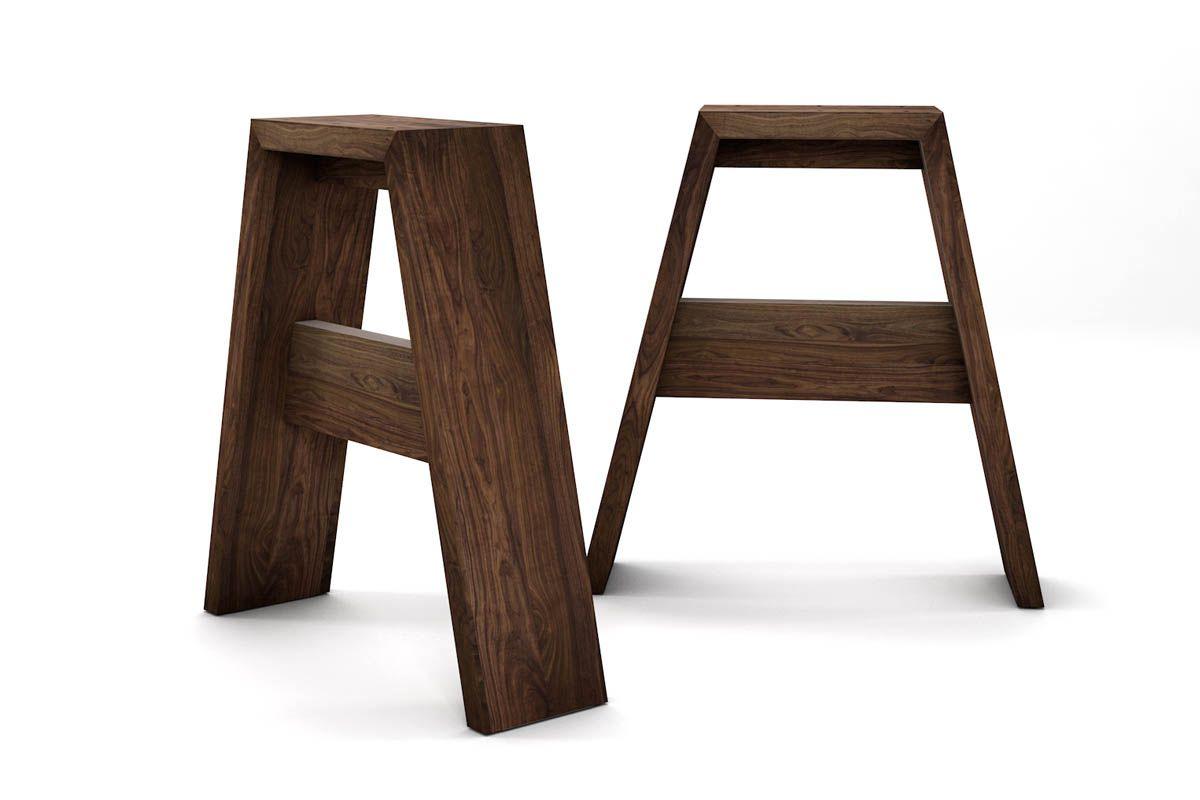 Tischfüße in Nussbaum nach Maß gefertigt in massiver Ausführung