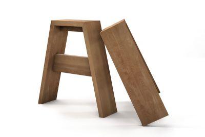 Tischfüße Holz Buche nach Maß im 2er Set in vollmassiver Ausführung