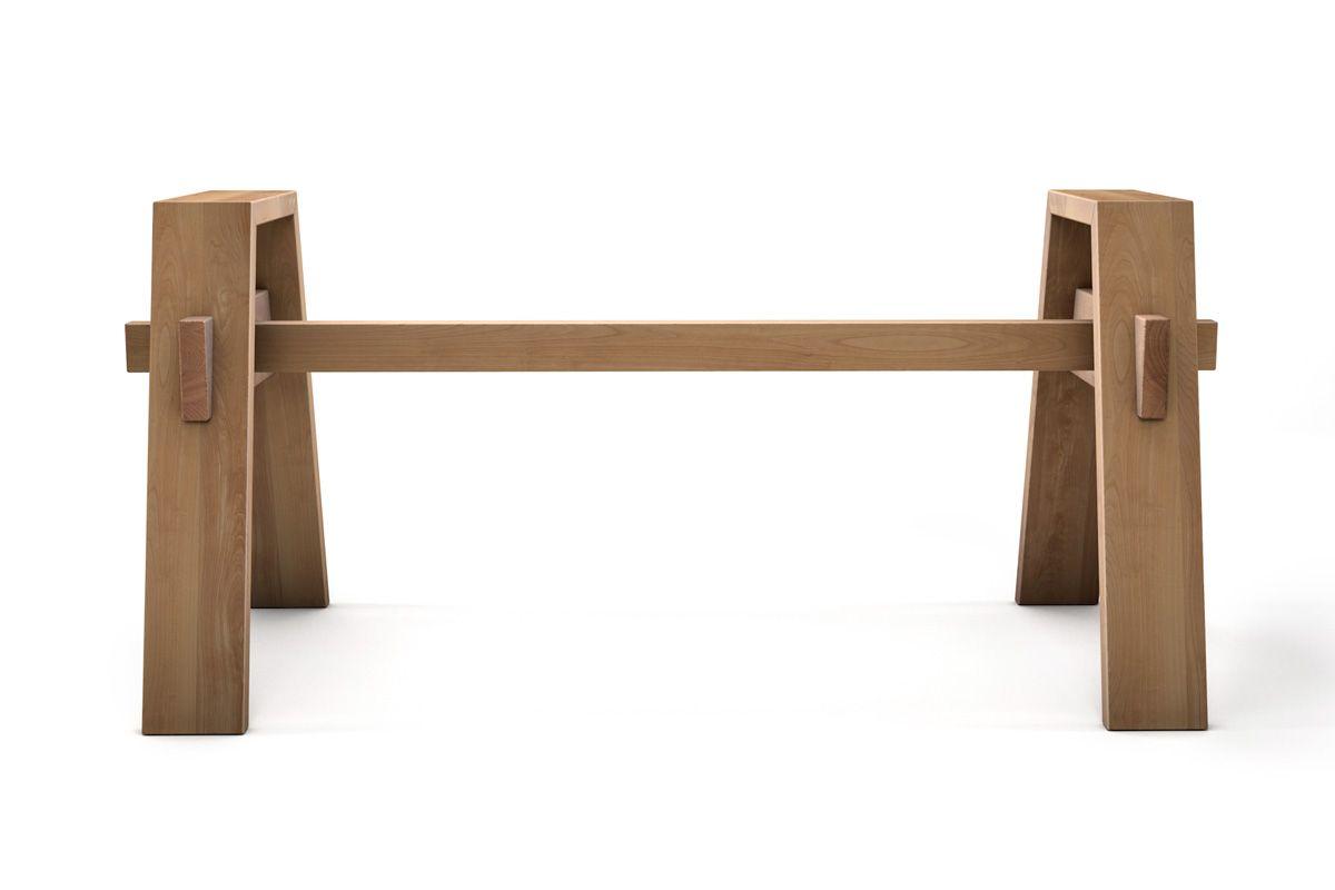 Selbsttragendes Holzgestell auf Maß aus Buche in vollmassiver Ausführung