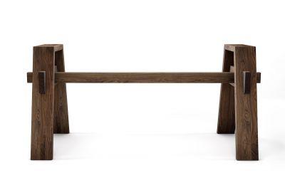 Tisch Untergestell Nussbaum nach Maß in vollmassiver Ausführung gefertigt.